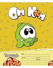"Тетрадь 12л А5 ""CUT THE ROPE"" линейка, скоба, Hatber"